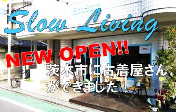 slowliving、茨木市、古着屋